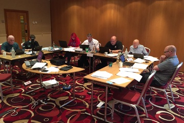 Photo of delegates on FRA course